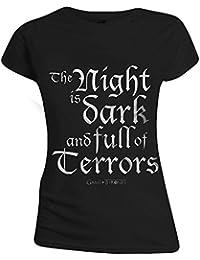Game Of Thrones Night Is Dark And Full Of Terrors Girl-Shirt schwarz