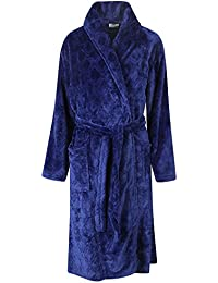 Storelines Ladies Soft Diamond Embossed Fleece Wrapover Dressing Gown.  Burgundy Navy. Sizes S M L XL 6fe358c3b