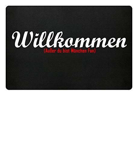 Fußmatte Anti München in schwarz - Lustige Fußball gebraucht kaufen  Wird an jeden Ort in Deutschland