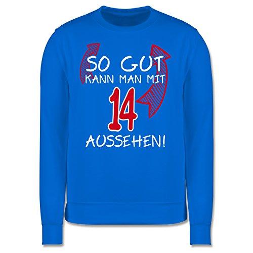 Geburtstag - So gut kann man mit 14 aussehen - Herren Premium Pullover Himmelblau