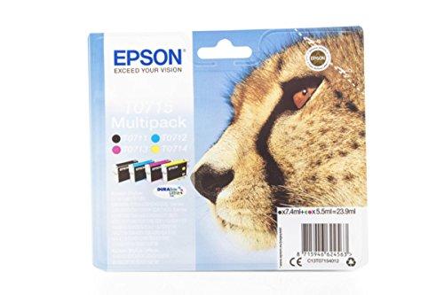 Preisvergleich Produktbild Epson Stylus SX 105 (T0715 / C 13 T 07154010) - original - Tintenpatrone MultiPack (schwarz, cyan, magenta, gelb)