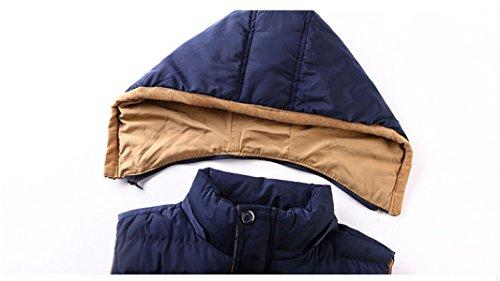 YanLL Gli Uomini Di Autunno Ed Inverno Di Nuovo Inverno Legano Il Modo Caldo Del Gilet Di Cotone Khaki