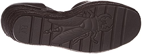 FLY London Etic970, Sandales Bride Cheville Femme Noir (Black 000)
