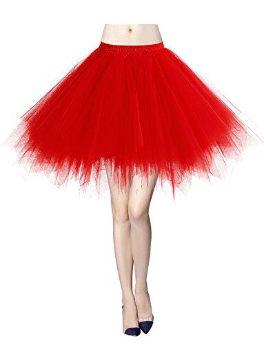 Material: Tüll Elastische Taille bietet sich eine gute Passform Viele Farben zur Auswahl, Sie können unbedingt eins finden, die zu Ihren Anlässen gut passt. Sehr geeigenet für Ballett, Tanzen, Theaterauftritt, Kostüme, Party, Karneval o.ä.  Größentab...