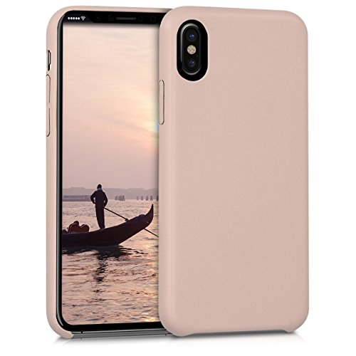 kwmobile Apple iPhone X Hülle - Handyhülle für Apple iPhone X - Kunstleder Handy Case Schutzhülle