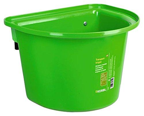 2 Stück Transport-Krippe hellgrün 12 Liter Pferdetrog Pferdetränke zum Einhängen