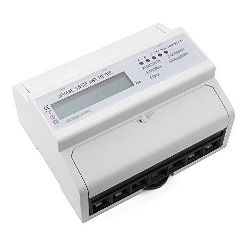 XCSOURCE KWH di energia LCD metro 3x20 7 cifre (80) A 3x230 / 400V 50Hz Trifase quattro figli Din Din KWH di watt-ora TE558