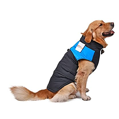 Pet Dog Cold Weather Coat Windproof, PAWZ Road Winter Warm Jacket With D Ring for Harness, Padded Vest Clothes For… 3