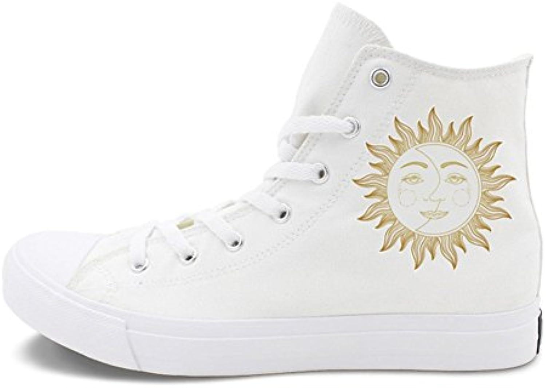 Zapatos de Mujer Canvas Fashion Spring Fall Deck Shoes, Amantes Metal Wind Zapatos de Lona Ocasionales, para el... -