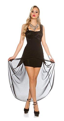 Sexy High-/Low Abendkleid mit Spitze