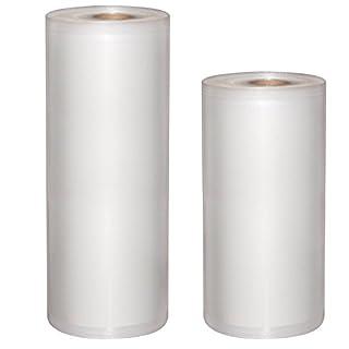 MixMart Pack de 2 Rouleaux pour Appareil de Mise sous Vide 28cm x 15m et 22cm x 15m Sac sous Vide Compatible avec Toutes les Marques