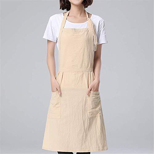 YXDZ Normallack Japanische Einfache Wäsche-Baumwollschutzblechgartenarbeit-Backenschutzblechwasserdichte Küchenschutzblechhausantifouling Anti-Schmutziges Beige A