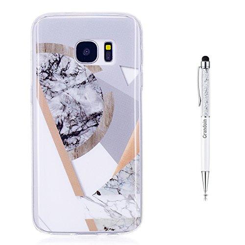 Grandoin Galaxy S7 HandyHülle, Marmo Motiv Ultra Dünn Weiche TPU Silikon Schutz Handy Hülle...