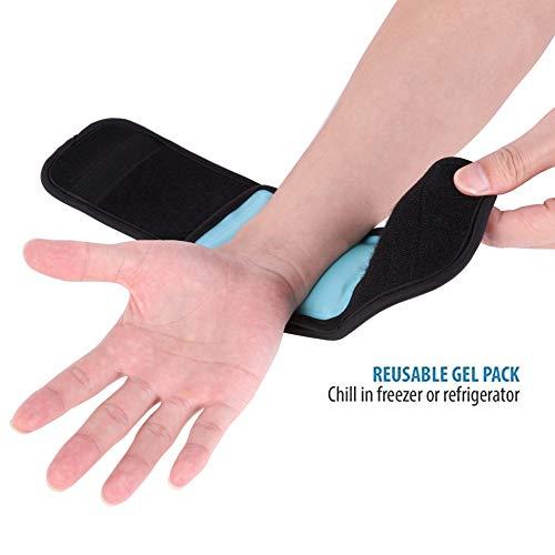 Yalatan Einstellbare Wrap Protector Kältetherapie Wrap, wiederverwendbare Ice Pack Gel Wrap, heiße und kalte Therapie Schmerzlinderung Wrap für Fuß Arm Ellenbogen Knöchel - Therapie Ellenbogen-wrap