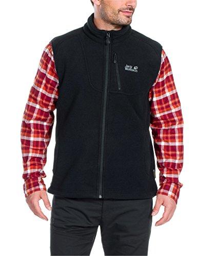 Jack Wolfskin Herren Fleecweste Thunder Bay Vest, Black, S, 1702921-6000002