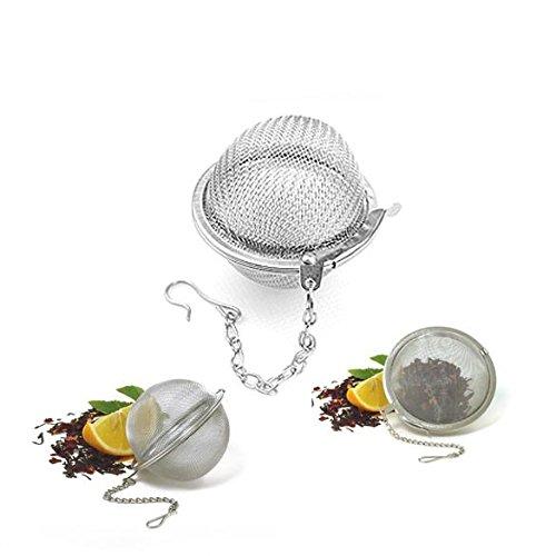 Infuseur à thé de haute qualité, DE Qualité alimentaire Maille en acier inoxydable Passoire à thé/filtre pour feuilles de thé et Tisane (3-Pack, 4.5 cm)