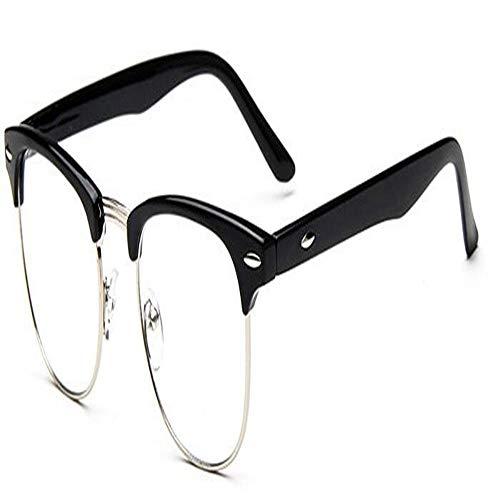 XCYQ Brillengestell Klare Linse Brillen Frames Männer Frauen Transparente Runde Optische Brillen Nerd Eyewear Spectacle, D