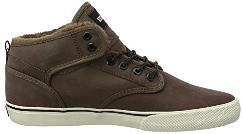 Globe Motley Mid, Scarpe da Skateboard Uomo Multicolore (Dark Brown/off White/fur)