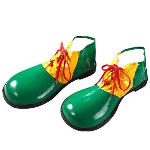 Weimoli Zapatos 1PC del Payaso De Halloween Unisex Adultas Jumbo Payaso Zapatos De Gran Disfraces De Halloween Accesorios para Fiestas Cosplay Desgaste (Verde)