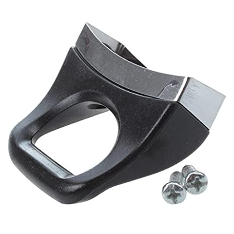TOOGOO(R) Pair Bakelite Metal Black Pressure Pan Handgrip Hardware Short Side Helper Handle