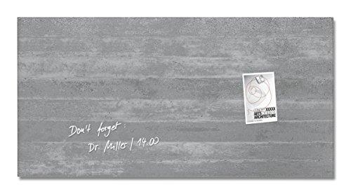 Sigel GL148 Glas-Magnetboard 91 x 46 cm Motiv Sichtbeton / Magnettafel artverum - weitere Designs/Größen