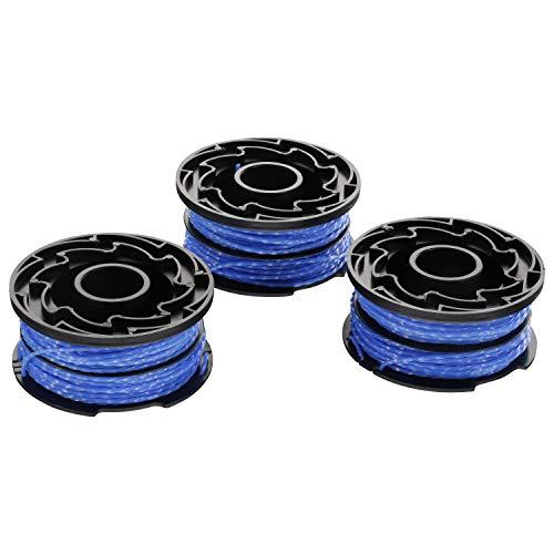 Black+Decker A6441X3-XJ 2+1 Vorteilspack Fadenspule Reflex plus (3 Stück), Blau