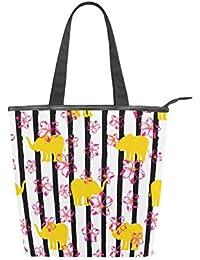 389d0d8a86 Jeansame Canvas Bag Tote Bag Shopping Bag Top Handle Borse a spalla Borsa  Carino Elefante Animale
