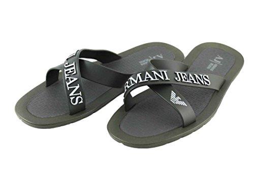 Armani Jeans - Sandali alla schiava Uomo , Marrone (Kaki), 46 eu