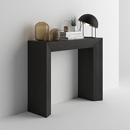 Mobilifiver giuditta consolle ingresso, legno, frassino nero, 90x30x75 cm