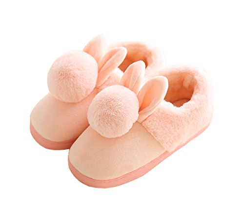 Rojeam pantofole del coniglio delle ragazze delle signore scivolano sulle pantofole calde della peluche della novità degli uomini delle donne