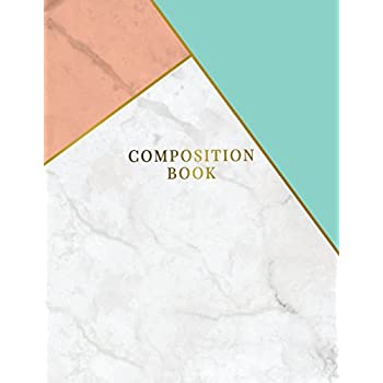 Composition Book: Marble + Gold Bullet Notebook | 150-Page 1/2 Inch Dot Grid Marble Journal | 8.5 X 11 Matte Softcover