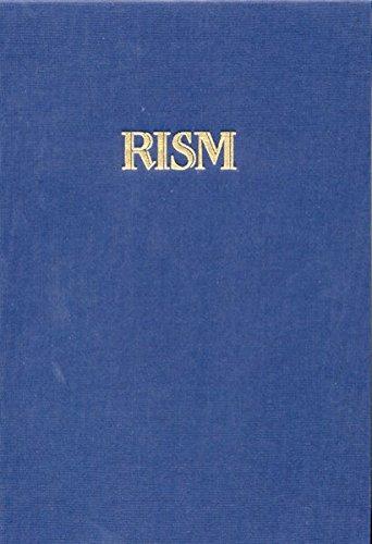 Répertoire International des Sources Musicales (RISM) / Einzeldrucke vor 1800: Schrijver - Uttini: Serie A /I / BD 8