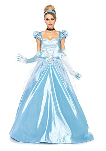 Leg Avenue 85518 - 3Tl. Classic Cinderella Kostüm, Größe Small (EUR 36) Damen Karneval Kostüm (Erwachsene Kostüme Dornröschen Für)