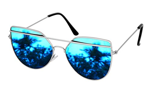 SHVAS Uv Protected Premium BrowBar Aviator Sunglasses(COLINSILMIRBLU)