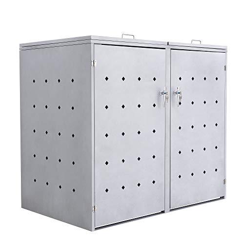 Mülltonnenbox Mülltonnen (schwarz