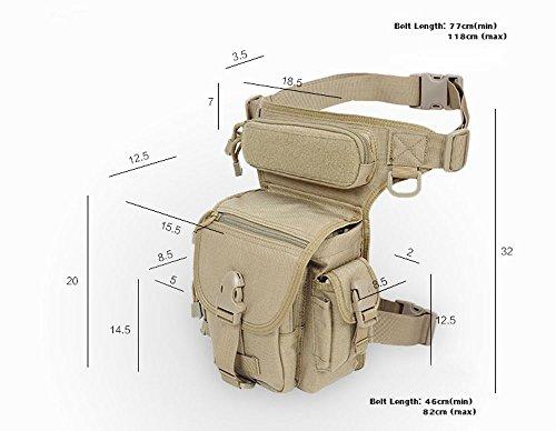 Military Tactical Drop Leg Tasche Motorrad Thermite Versipack Werkzeug Fanny Oberschenkel Utility Pouch Tasche schwarz