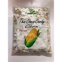 HAOLIYUAN Corn Toffee Gummy Milk Fruit Candy 350g (100 Pieces)