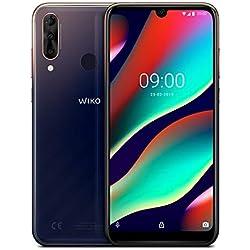 Wiko View3 Pro Smartphone débloqué 4G (Ecran 6, 3 Pouces - 6 Go RAM - 128 Go Stockage - Double Nano-SIM - Android 9 Pie) Nightfall + Coque de Protection Incluse