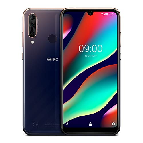 "WIKO View3 Pro + Carcasa - Smartphone de 6,3"" FHD+ (Triple Cámara, 4000mAh para 2 días de autonomía, 6GB de RAM, 128GB de ROM, Octa-Core 2.0 GHz, Android 9, Dual SIM) Nightfall"