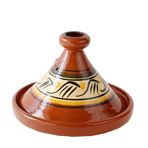 Casa Moro Marokkanische Tagine glasierte Tajine Beldi Ø 34 cm zum Kochen für 4 bis 5 Personen | Berber Tontopf Handmade glasierter Gartopf aus Marrakesch