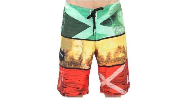 c743198857 BILLABONG Men's Bob Marley Boardshorts Swim Trunks Platinum X Stretch Rasta  Yellow: Amazon.co.uk: Clothing