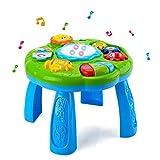 HANMUN - Mesa de Aprendizaje Musical para bebé, Juguete de Actividades de Desarrollo temprano para niños (Verde)
