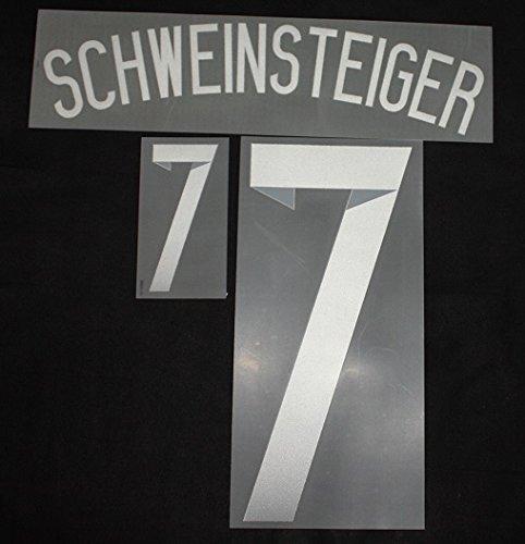 DFB Deutschland SCHWEINSTEIGER Flock für Adidas Away Trikot WM 2014 Quali EM 2016