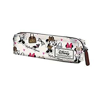 Minnie – Estuche escolar rectangular Vintage White Minnie Disney