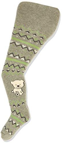 en Strumpfhose Bär, Grau (silber melange 542), 62 (Herstellergröße: 4-5 Monate) ()