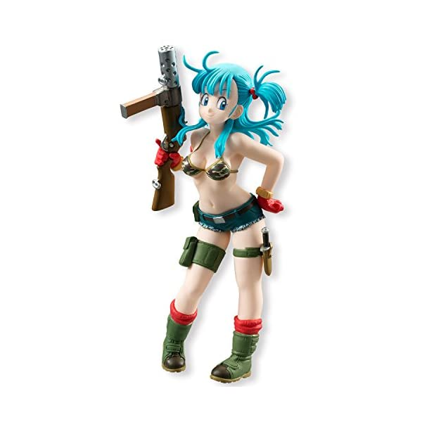 Bandai- Juguete Dragon Ball Styling Bulma, 12 cm, color azul (25360 ) 1