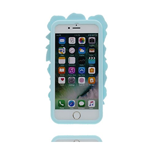iPhone 6 Plus Custodia Cover, Durevole Shell TPU Flexible iPhone 6 Plus / 6S Plus Copertura Case 5.5 A prova di polvere (Cartoon 3D orso) Bear Pretty Soft verde # 1