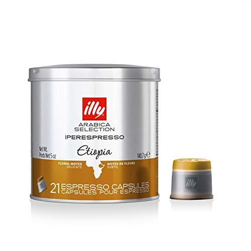 Illy Metodo ipere mediaespresso Espresso de 21Cápsulas, monoara Bica Etiopía, 1er Pack (1x 140.7g)