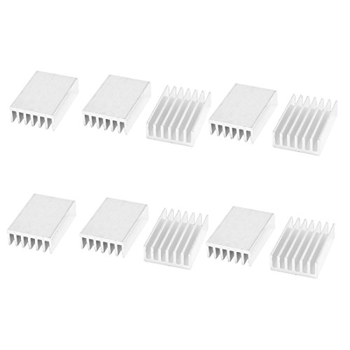 sourcingmap® 10 pcs Aluminium Kühlkörper Fin 20 millimeter x14 millimeter x6 millimeter für Mosfet IC
