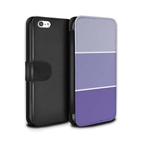 Stuff4 Coque/Etui/Housse Cuir PU Case/Cover pour Apple iPhone 5C / Rose Design / Tons de Couleur Pastel Collection Violet
